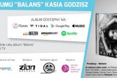 """Legalny odsłuch albumu Kasi Godzisz """"Balans"""""""